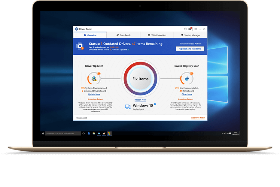 Driver Tonic: Advanced Driver Updater Software to Update System Drivers